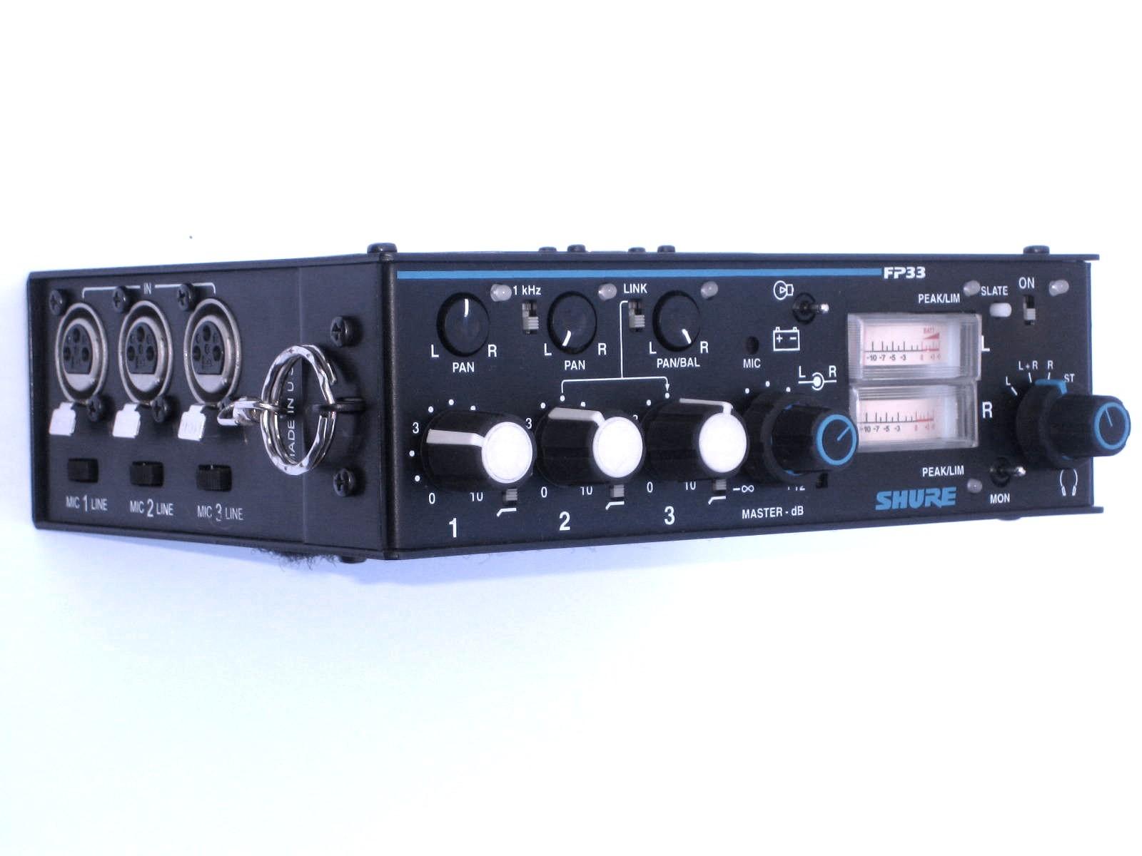 Shure FP33 Mixer, Audio Equipment Rental Nyc, Brooklyn