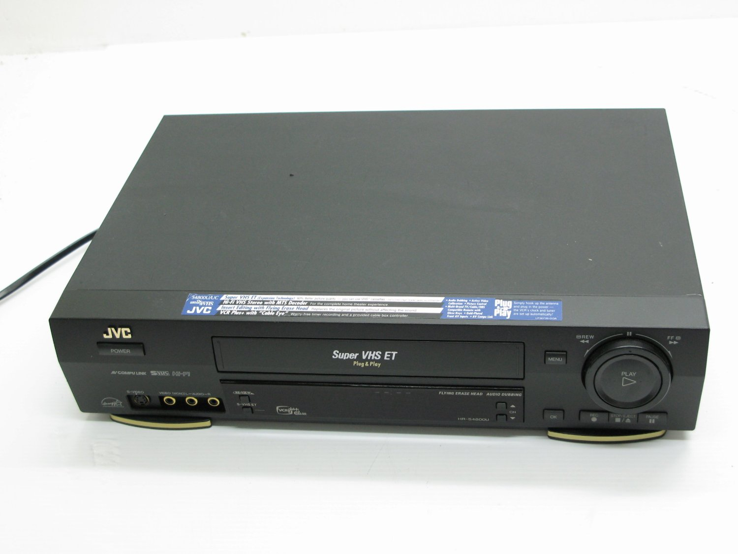 JVC HR-S4800U VHS Player Rental Manhattan Brooklyn Nyc