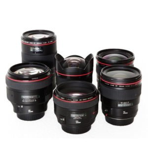 Canon Prime EF Lens Set Rental NYC