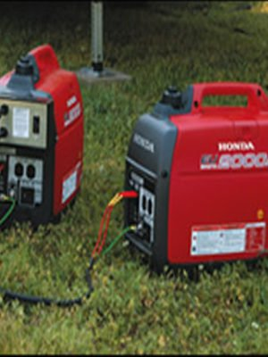 Two Honda EU2000i Super Quiet Generators With Parallel 30A Kit