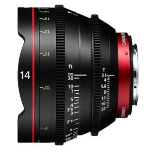 Canon CN-E 14mm T3.1 Cinema Prime EF Lens Rental Nyc