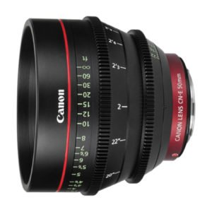 Canon CN-E 50mm T1.3 Cinema Prime EF Lens Rental Nyc