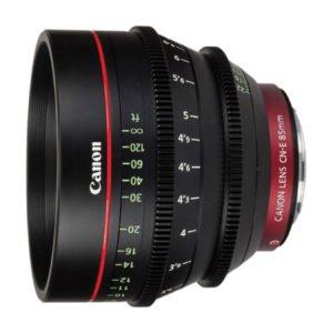 Canon CN-E 85mm T1.3 Cinema Prime EF Lens Rental in Nyc
