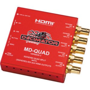 Decimator Design MD-Quad 3G/HD/SD Quad Split Rental Manhattan