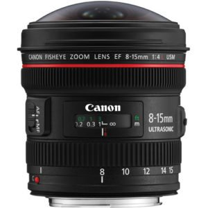 Canon EF 8-15mm f/4L Fisheye USM Lens for Rent NYC
