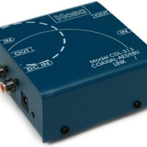 Hosa Technology CDL-313 Bi-Directional Coaxial to XLR Data Link Rental, Audio Equipment Rental