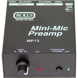 Rolls MP13 Mini Microphone Preamp Rental and Audio Equipment Rental New York City