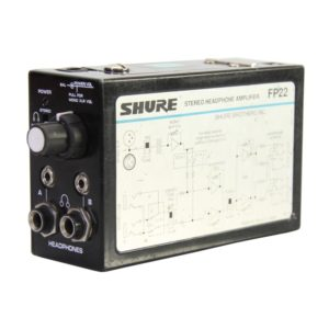 Shure FP22 Headphone Stereo Bridging Amplifier Rental and Audio Equipment Rental Nyc