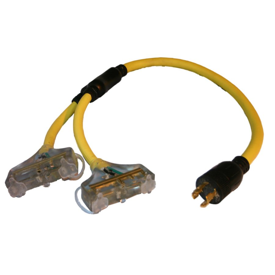 4-Pin Twistlock to (6) Edison Y-Cable for Generator for Rent in Manhattan NYC