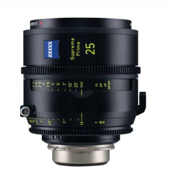 ZEISS 25mm/T1.5 Supreme Prime PL/LPL Lens Rental Nyc